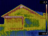 Thermal Image of a House Side