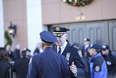 NYPD chiefs outside church