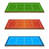 Tennis Courts 3D Persepective 1