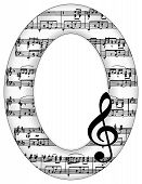 Music Notes Oval Picture Frame