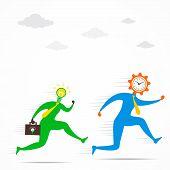 idea men compete time concept design