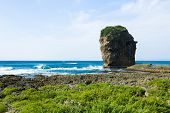 Rocky Coast along the Pacific Ocean, Kenting, Taiwan