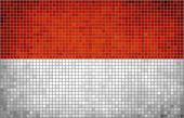 Mosaic Flag of Indonesia