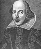 foto of william shakespeare  - Portrait of Playwright William Shakespeare - JPG