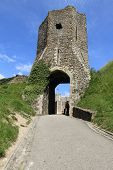 medieval gate ruins of Dover castle
