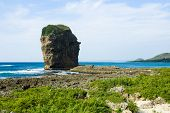 Sail rock in the kenting national park