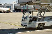 GENEVA - SEP 16: boarding ramp car on September 16, 2014 in Geneva, Switzerland. Geneva International Airport is the international airport of Geneva, Switzerland.