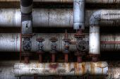 Old Pipes With Valves