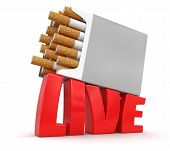 Cigarette Pack and Live (clipping path included)
