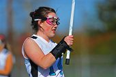 Girls Lacrosse players with wrist brace