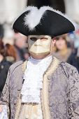 Masked Man During The Carnival Of Venice