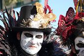 Masked Man At Carnival Of Venice