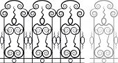 Modular Wrought Iron Railing or Fence