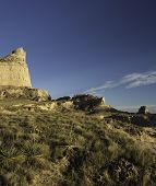 stock photo of western nebraska  - Scotts Bluff National Monument is located in western Nebraska - JPG
