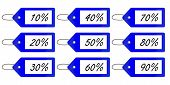 Discount Tags 3 Blue
