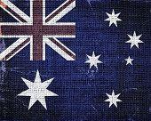 Australian National Flag Burlap Linen Rustic