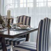 Luxury Dinning Room With Chair And Table At Home