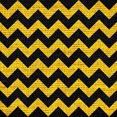 image of zigzag  - Closeup burlap jute canvas vintage chevron zigzag textured background - JPG