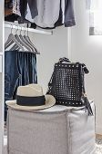 Closet With Hat And Bag
