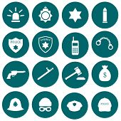 pic of cap gun  - vector security icon - JPG