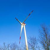 Wind Generator In Landscape
