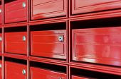 Close Up Of Red Mailbox