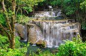 Amezing Waterfall In Kanchanaburi, Thailand