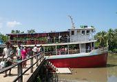 Passenger Ferry In Mrauk U, Myanmar