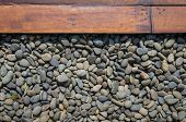Pebble And Wood Plank
