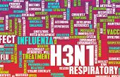 stock photo of avian flu  - H3N1 Concept as a Medical Research Topic - JPG