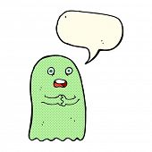 picture of funny ghost  - funny cartoon ghost with speech bubble - JPG