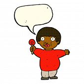 picture of obesity children  - cartoon fat child with speech bubble - JPG
