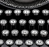 image of groping  - an old typewriter keyboard - JPG