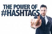 picture of hashtag  - Business man pointing the text - JPG