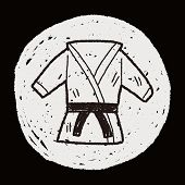 stock photo of karate kid  - Karate Doodle - JPG