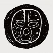 Постер, плакат: Mexican Wrestler Mask Doodle