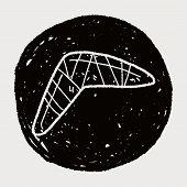 stock photo of boomerang  - Boomerang Doodle - JPG