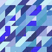 picture of parallelogram  - Abstract geometric vector blue background - JPG