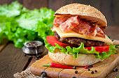 image of tomato sandwich  - Big sandwich  - JPG