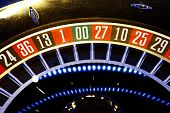 image of roulette table  - a view of the Roulette wheel stopped - JPG