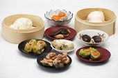 image of chinese menu  - Group of stream Dim Sum chinese food  - JPG