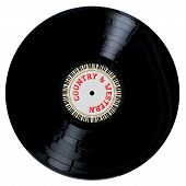 pic of lp  - A typical LP vinyl record with the legend Country and Western and a circle of piano keys all over a white background - JPG