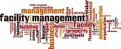stock photo of stewardship  - Facility Management word cloud concept - JPG
