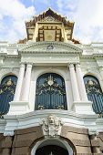 stock photo of palace  - The Grand Palace is a complex of buildings at the heart of Bangkok - JPG