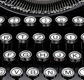 foto of groping  - an old typewriter keyboard - JPG
