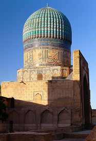 pic of samarqand  - Evening view from Bibi - JPG