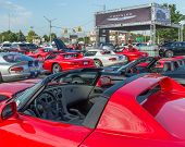 Постер, плакат: Dodge SRT Vipers Woodward Dream Cruise MI