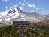 Mt. St. Helens Trail Sign