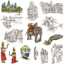 foto of freehand drawing  - Travel CAMBODIA  - JPG