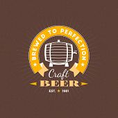 Retro Design Element, Badge, Logotype, Label For Beer, Beer Shop, Pub, Bar. Vector Illustration poster